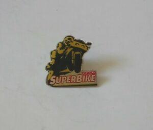 TEAM SUPERBIKE MAGAZINE METAL PIN BADGE SUPERBIKES MOTO GP MOTORBIKES BIKER VGC
