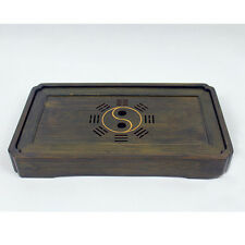 New  Bamboo Gongfu Tea Tray Yin Yang Chinese Serving Table Tai Chi 30*17*4cm