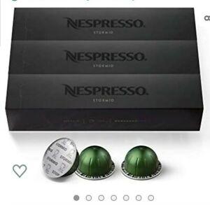Lot of 3 Boxes Nespresso VertuoLine 30 Count Stormio Exp 5/31/21-7/31/21