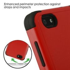Red Black Impact TUFF Hybrid Rugged Cover Case +Glass Screen FOR ZTE B