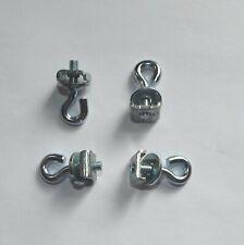 4 stabile Metall Gardinenfeststeller oder Bilderösen silber für Gardinenschienen