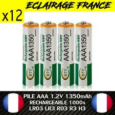 12 PILES ACCUS RECHARGEABLE AAA NI-MH 1350mAh 1.2V LR03 LR3 R03 R3 H03 H3 PILE