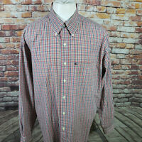 BROOKS BROTHERS CHECKED LONG SLEEVE TRADITIONAL FIT SHIRT SIZE L  A39-30