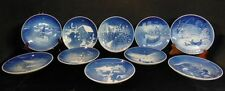 LOT OF 10 B & G CHRISTMAS COLLECTOR PLATES 1966 TO 1975 DENMARK LL 47