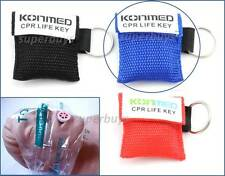 Blue Emergency CPR Face Mask Cover Shield First Aid Resuscitation KeyRing Chain