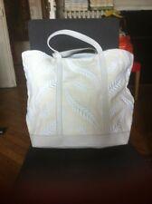 sac cabas vanessa BRUNO lin et cuir NEUF blanc et blanc creme