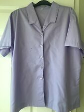 Alexandra Purple Office Blouse Uniform Top Size 22 Brand New Without Tags.