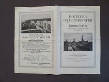 Reiseprospekt Hotelführer von Kopenhagen, Liste der Hotels, 1927