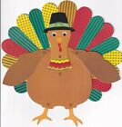 PAPYRUS THANKSGIVING CARD NIP MSRP 6.95 POSEABLE TURKEY CARD E1