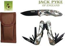 "Plegable-cuchillo y multi herramienta set camo con nylonholster ""Jack Pyke""; Knife"