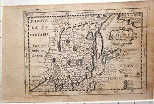 1687 MAP CHINA GÉRARD JOLLAIN - from rare atlas Tresor Des Cartes Geographiques