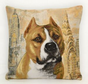 Cushion Pillowcase Pillow Cover Cushion Tapestry Case Staff Bull Terrier
