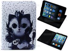 For iPad Mini 1 2 3 V Magic Owl & Cat Wizard Children Kids Fun Stand Case Cover