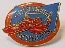 BUDWEISER 1991 COLUMBIA CUP figural hydroplane boat racing tack pin
