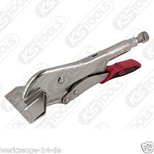 KS TOOLS Gripzange de hornear plana boca ancha con fácil liberación,250mm