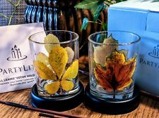PartyLite Fall Leaves Votive Holder Pair New in Box
