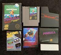 Nintendo Pinball Game NES 1985 3 Screw CIB Pin Ball Authentic