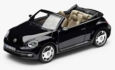 NEW GENUINE VW BEETLE CABRIOLET BLACK 1:43 SCALE DIECAST MODEL CAR