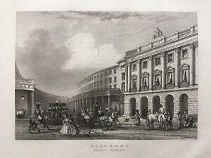 1838 Antique Print; Quadrant, Regent Street, London after John Francis Salmon