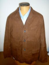 Peter Millar Fairfield Suede Blazer Jacket Quilted Lining Large $595 Caramel