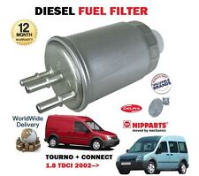 FOR FORD TRANSIT + TOURNEO CONNECT 1.8 TDCI DURATORQ 2002-> DIESEL FUEL FILTER