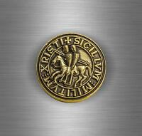 Sticker adesivo tuning auto softair templare templari crociata stemma bandiera G