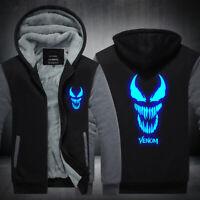 Venom Hoodie Sweatshirt Zipper Sweater Coat Warm Jacket Top Luminous Edition