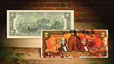 MICHAEL JORDAN Chicago Bulls RED by RENCY Art $2 Bill Artist Signed #/70 Banksy