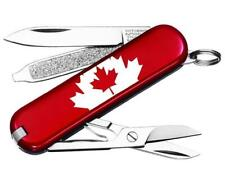 SWISS ARMY VICTORINOX 53594 CLASSIC SD RED FLAG MULTI FUNCTION POCKET KNIFE.