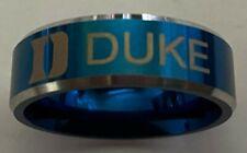 Duke Blue Devils titanium ring size 8