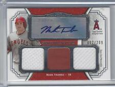 2012 Topps Museum Signature Swatches Mark Trumbo triple relic auto 062/209 O's