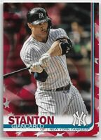 2019 Topps Series 2 Giancarlo Stanton Independence Day Parallel #'d 24/76 #568