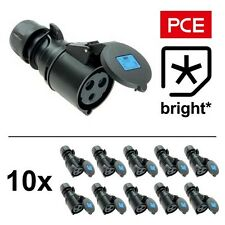 10 x 16 Amp PCE IP44 Black Ceeform Female Socket Connector 16A, Stage