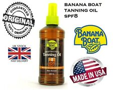 BANANA BOAT PROTECTIVE  TANNING OIL SPRAY SPF 8 UK SELLER