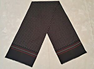 SCARF VINTAGE AUTHENTIC POLKA DOT BLUE RED LONG MEN'S DOUBLE