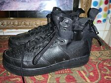 Mens Nike Air Force 1 AF1- Black leather - Size 8 42 Military High top
