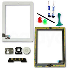 Apple iPad 2 Touch Screen Digitizer Panel Lens Glass Home Button White Tools UK