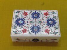 "6"" x 4"" x 1.5"" Marble Box Semi Precious Stone Lapis Handmade Home Decor Gift"