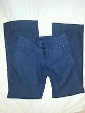 Lucky Brand Dungarees American Classic Button Flare Jeans 6 / 28 5th Ave Trouser