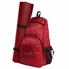 7ad2f4559409 Ivation Yoga Mat Backpack Multi Purpose Crossbody Sling for Gym Beach Hiking