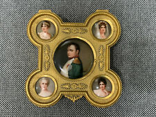 Antique Likely French Gilt Bronze Box 5 Porcelain Plaques Wagner Signed Napoleon