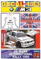 DECAL 1/43 BMW M3 G.MIDDLETON MANX INTER. R. 1990 5th (01)