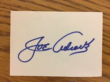 Joe Adcock Hand Signed Autographed Stationery Baseball Card Size Braves