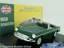 MGB ROADSTER MODEL CAR 1:43 SCALE GREEN CONVERTIBLE ATLAS NOREV CLASSIC SPORTS K