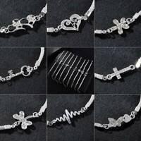 Charm Women Wedding Banquet Crystal Silver Aniaml Bracelet Bangle Jewelry Gift