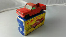 Matchbox Lesney RW #71B Jeep Gladiator Pickup Truck RARE GREEN INTERIOR BOXED D2