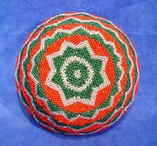 "Coiled Willow Paiute Beaded Basket c.1920-1950 Nevada Ranch 5 3/4"" x 2 1/2"""
