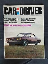 Car & Driver Dec 1966 Plymouth Barracuda - Olds 442 - Jaguar XK-E - Jack Brabham