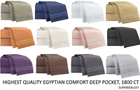 New EGYPTIAN COMFORT 1800 Ct Deluxe Deep Pocket Sheet Sets 4PC - All Sizes