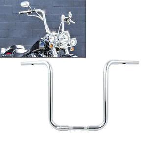 """18"""" Rise 1-1/4"""" Ape Hanger Handlebar Fit For Harley Custom Sportster XL Chrome"""